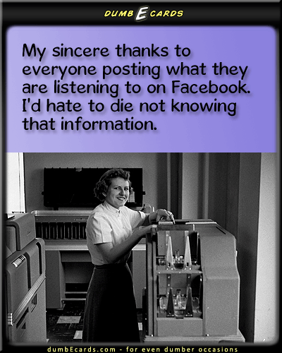 Facebook Music Status Updates - facebook, pandora, music, status, updates, internet, humor, funnyhumor, greeting e cards, funny stuff, send a card, e cards funny,