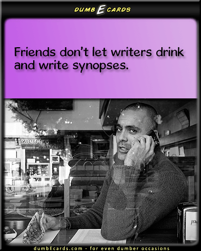 In a Nutshell - writing, synopsis, novel, author, drinkinggreeting cards birthday, electronic card, funny jokes, short funny jokes, funny pictures,