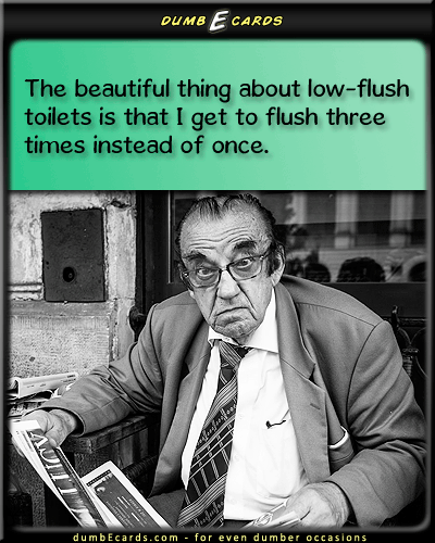 Flush-O-Rama - low-flush, toilet, commode, poop, crap, many timesfree greeting cards, happy birthday card, email cards, send a card, funny quotes,