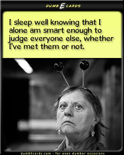 Smart Enough - sleep, smart, judge othersbirthday ecards, short jokes, nsfw, birthday quotes, funny ecards,